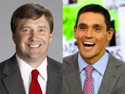 Kirby Smart and David Pollack