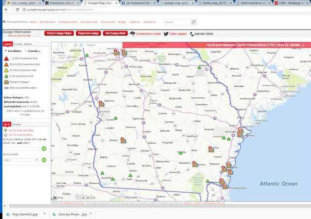 Georgia Power Outage Map Statesboro Herald