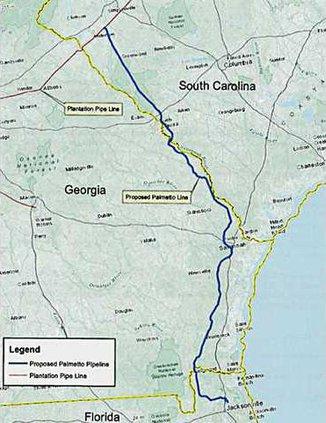 Palmetto Pipeline map