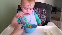feeding a child