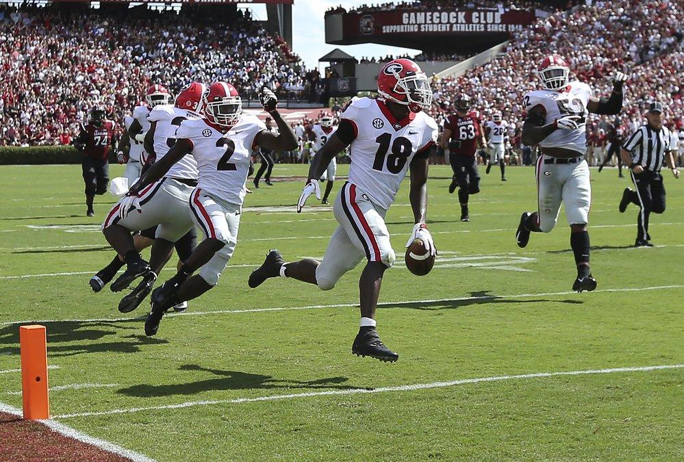 Uga Makes Statement With Blowout Of South Carolina Statesboro Herald