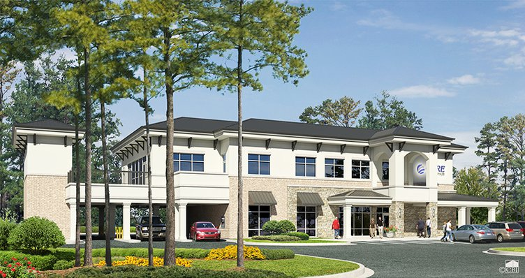 Exterior of new CORE Credit Union